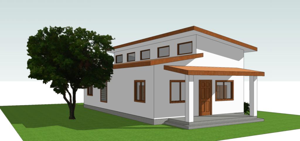 Concrete Wall Panel Home Prototype 3D